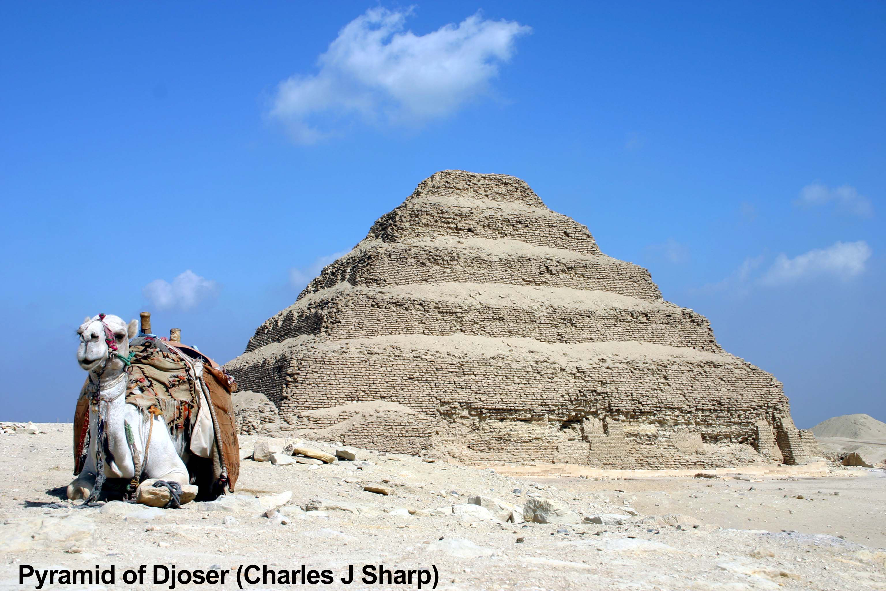 Pyramid of Djoser (credit to Charles J Sharp)